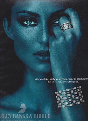 MAGAZINE ADVERTISEMENT For 2007 Bailey Banks & Biddle Ice Flowers Jewelry (Baileys With Ice)