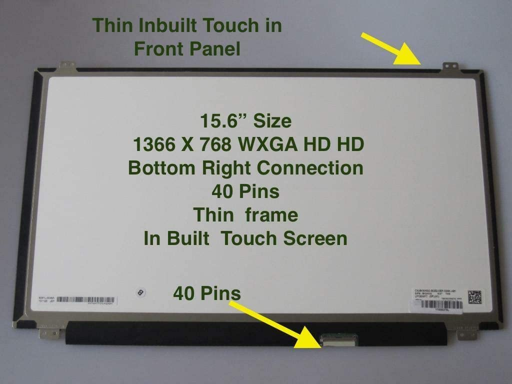 "15.6"" 1366x768 HD LCD Screen LED Display Touch Panel Digitizer For HP 15-DA0014DX 15-DA0024CL 813961-001"
