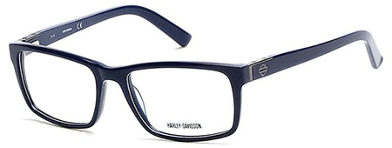 3d76713aa3 Eyeglasses Harley Davidson HD 739 HD0739 090 shiny blue at Amazon Men s  Clothing store