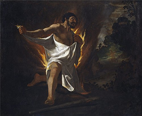 ['Zurbaran Francisco De Muerte De Hercules Abrasado Por La Tunica Del Centauro Neso 1634 ' Oil Painting, 30 X 37 Inch / 76 X 94 Cm ,printed On Perfect Effect Canvas ,this Best Price Art Decorative Prints On Canvas Is Perfectly Suitalbe For Gift For Girl Friend And Boy Friend And Home Artwork And] (Hercules Costumes Ideas)