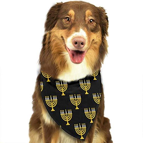 Be fearless Candlestick Candles Pattern Pet Scarf Dog Bandana Pet Triangle Bibs White-One Size