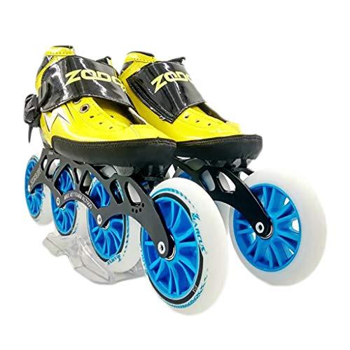 有罪マティスうんざりNUBAOgy インラインスケート、90-110ミリメートル直径の高弾性PUホイール、4色で利用可能な子供のための調整可能なインラインスケート (色 : Green, サイズ さいず : 41)