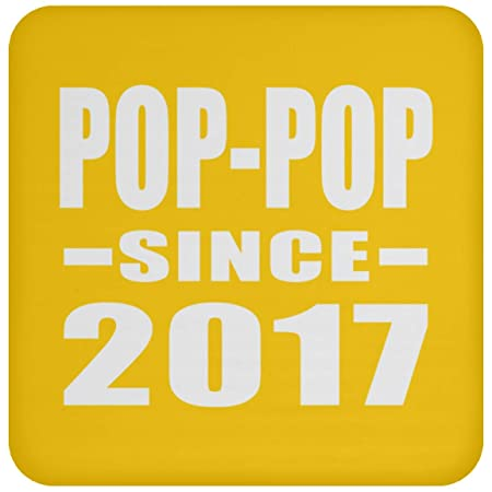 Pop-Pop Since 2017 - Drink Coaster Athletic Gold Posavasos ...