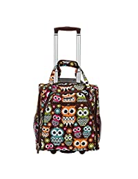 ROCKLAND BF31-OWL Melrose Wheeled Underseat Carry-On Luggage, Owl, One Size