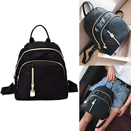 Lx10tqy Fashion Women Nylon Solid Color Backpack Travel School Shoulder Bag Handbag
