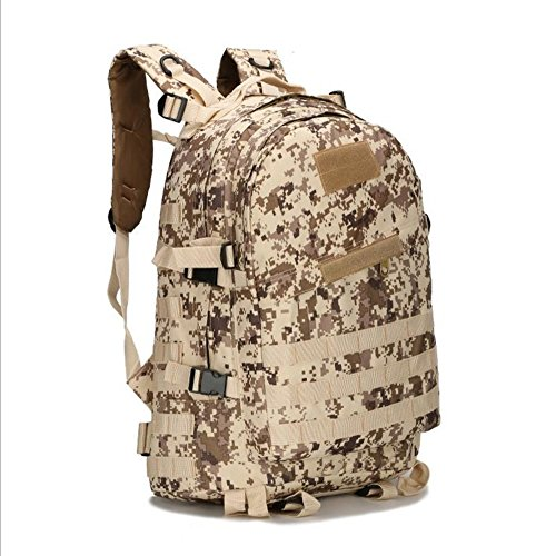 PME Military Tactical Backpack, 600D Oxford Classical Assault Backpack Daypack Small Rucksack for Outdoor Hiking Camping Trekking Hunting (ACU)