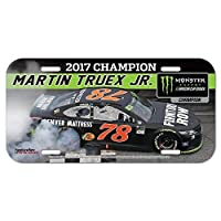 Martin Truex Jr 2017 Monster Energy NASCAR Cup Series Champion Plastic Car License Plate Tag
