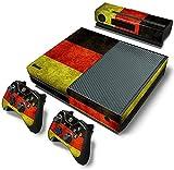 ModFreakz™ Console/Controller Vinyl Skin Set - Black Red Gold Stripe for Xbox One Original