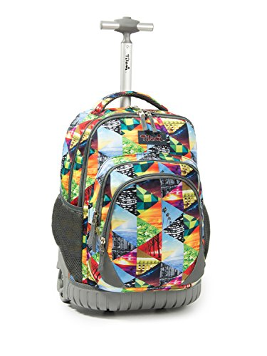 Tilami Tilami Rolling Backpack Armor Luggage School Travel Book Laptop 18 Inch Multifunction Wheeled Backpack Kids Students price tips cheap