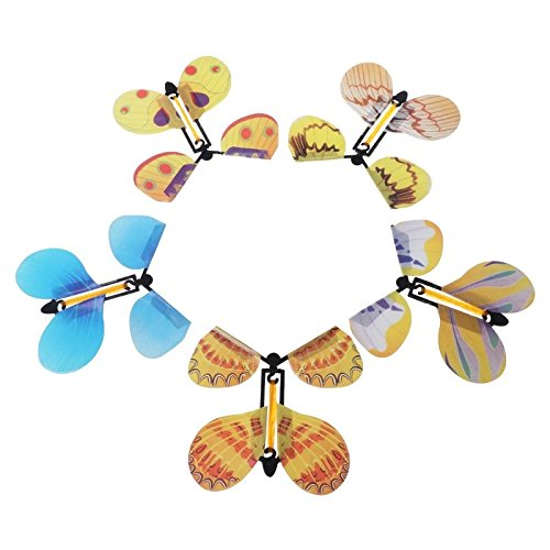Gold Happy 5pcs Magic Toys Hand Transformation Fly Butterfly Magic Tricks Funny Classic Toy by Gold Happy (Image #6)