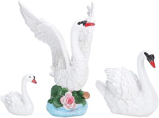 Simulation Swan Garden Ornament Miniature Resin Craft Black Resin Animal