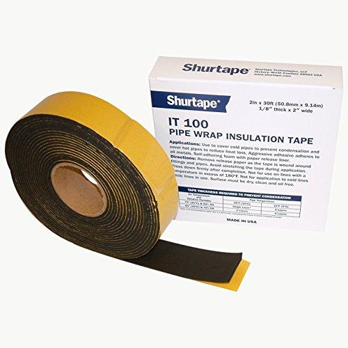 - Shurtape IT-100 Foam Pipe Wrap Insulation Tape: 2 in. x 30 ft. (Black)