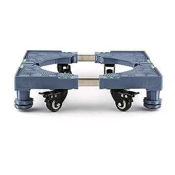 Zfggd Soporte de la Base de la Lavadora con 4 Ruedas móviles y Soporte de Acero Inoxidable de 4 pies Rodillo Que Aumenta la Base del refrigerador: ...