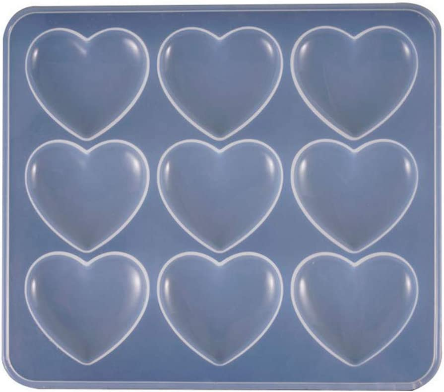 Wholeport Lady Resin Mold Clay Molds Handmade Resin Mold Heart Shape Polymer Clay Mold
