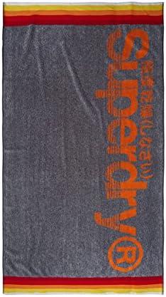 New Mens Superdry Large Sport Towel Fluro Orange