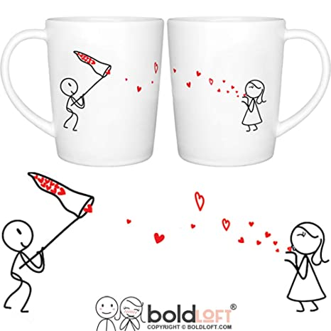 Amazon Com Boldloft Catch My Love His And Hers Coffee Mugs Matching