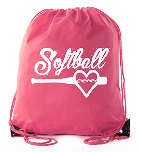 Mato & Hash Ladies Softball Drawstring Bags with 3,6, and 10 Pack Bulk options - 3PK Pink CA2500Softball S1