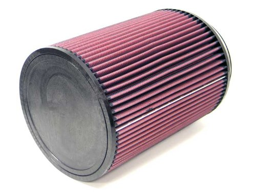 K&N RU-3270 Universal Clamp-On Air Filter: Round Straight; 6 in (152 mm) Flange ID; 10 in (254 mm) Height; 7.5 in (191 mm) Base; 7.5 in (191 mm) Top