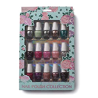 Nicole Miller Mini Nail Polish Set / Floral Collection /15 Metallic and Trendy Colors
