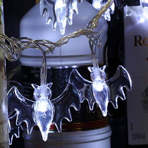 Nightlight,YJYdada Halloween Party Ghost Festival LED Remote Control Bat Lantern String Decoration (White)