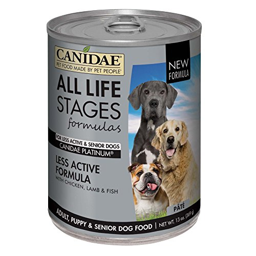 Canidae Fish Food - Canidae All Life Stages Platinum Less Active Dog Wet Food Chicken, Lamb & Fish Formula, 13 Oz (12-Pack)