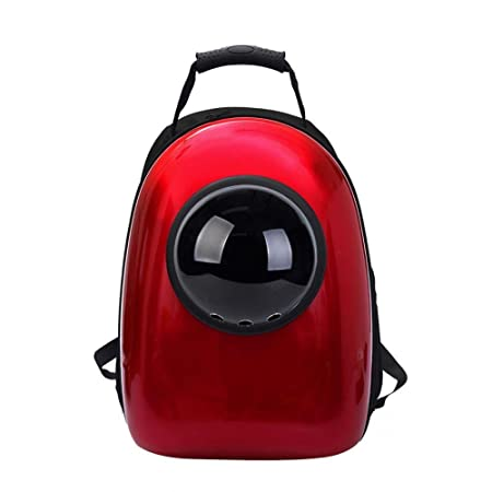 Amazon.com: Dixinla Pet Carrier Backpack Pet Space Bag Cat backpack out sneak cat pocket bag Space pet cabin bag double shoulder backpack cat dog cage PVC ...