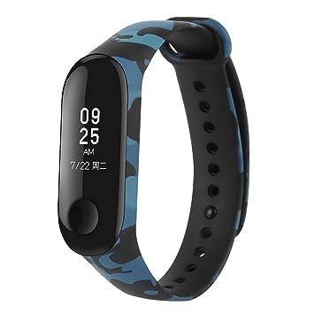 WEIHUIMEI - Correa de Repuesto para Reloj Inteligente Xiaomi Mi Band 3 (1 Unidad), Color Blue Camouflage: Amazon.es: Deportes y aire libre