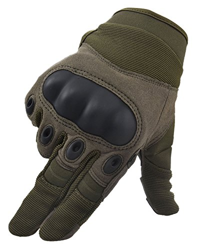 Simplicity Men Women's Cycling Motorcycle Gloves Mittens, Show Finger Army XL