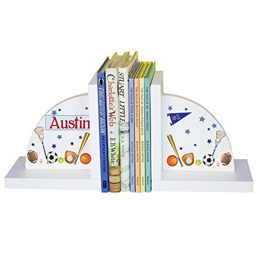 Boy's Personalized Sports Bookends