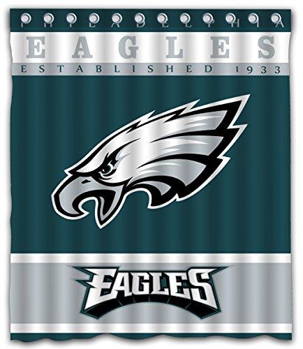 Sonaby Custom Philadelphia Eagles Waterproof Fabric shower curtain For Bathroom Decoration (60x72 Inches)