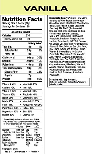 Labrada Nutrition Lean Body Meal Replacement Powder, Vanilla Ice Cream, 2.78-Ounce Packets (Pack of 80) by Labrada (Image #3)