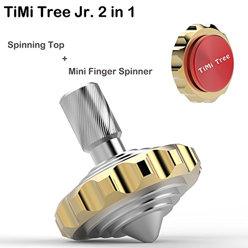 Brass Red 2 in 1 Spinning Top Fidget Spinner, Figit Spinner, Spinner Fidget Toy For Small Birthday Christmas Cool Gifts For 8 9 10 11 12 13 Years Old Boys Girls, Games for Teenagers Adults