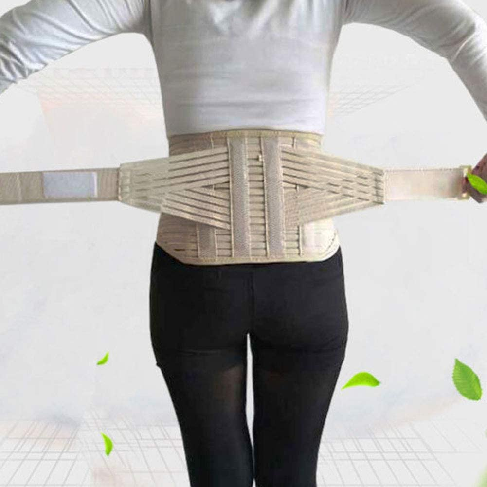 MOXIN Faja Lumbar para La Espalda,Vientre Bandas De Cintura Soporte Corsé Ortopédico Lumbar Cinturón De Cintura Corsés Espalda Brace Cinturón De Espalda