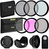 Professional 52MM UV CPL FLD Lens Filters, VIVITAR Neutral Density Filter Set, 10 Piece Compact Photography Accessories For Nikon