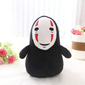 Plush toy Spirited Away Faceless Man No Face Plush Toy Doll Miyazaki Hayao No Face Ghost Plush Stuffed Toys For Kids Children Gifts-B_15cm (Color : A, Size : 15cm)