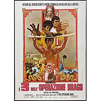 Enter the Dragon Poster Movie Italian 27 x 40 Inches - 69cm x 102cm Bruce Lee John Saxon Jim Kelly Ahna Capri Shih Kien Bob Wall Angela (Mao Ying) Mao