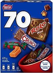 NESTLÉ Mini Halloween Assorted Chocolate & Candy - ROLO, Crunch, MACKINTOSH'S - 670g (Pack of 70 Mi