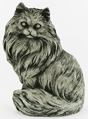 (Chester Cat Statue Home and Garden Statues Outdoor Animal Cement Figure Cast Stone Kitten Statuary)