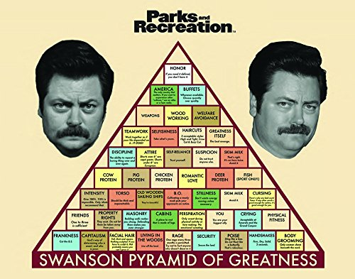 Parks and Recreation Ron Swanson Pyramid Workplace Comedy TV