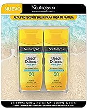 Neutrogena Neutrogena protector solar beach defense spf50 198ml paquete de 2 piezas