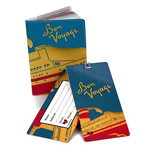 Bon Voyage Travel Set- Passport Cover + 2 Large Luggage Tags