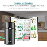 Refrigerator Purifier, AOZBZ Intelligent Air Freshener Ionic Ozone Deodorizer Purifier for Fridge Shoe Cabinet Wardrobe Slow/Fast Sterilization Mode, 5-Year Life Span