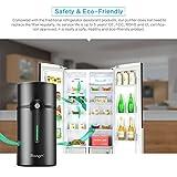 AOZBZ Refrigerator Purifier, Intelligent Air Freshener Ionic Ozone Deodorizer Purifier for Fridge Shoe Cabinet Wardrobe Slow/Fast Sterilization Mode, 5-Year Life Span