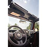 Rugged Ridge 13551.14 Black Composite Overhead Storage Console for Jeep Wrangler (YJ) 1987-1995/(TJ) 1997-2006/(JK) 2007-2011