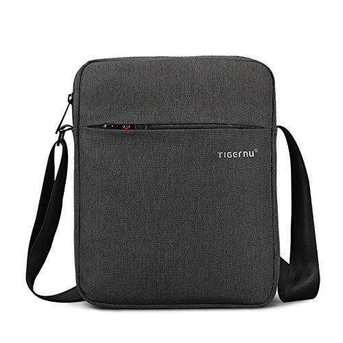 Purse Mens - Men's Messenger Bag Small Crossbody Bags Travel Bag Man Purse Casual Sling Pack Ipad Bag for Work Business College (Black)