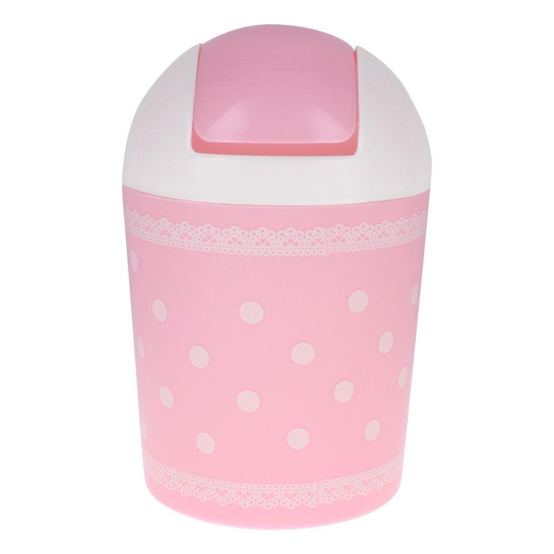 Kingken carino mini plastica scuotendo punto da tavolo in stile pizzo spazzatura pattumiera (rosa)