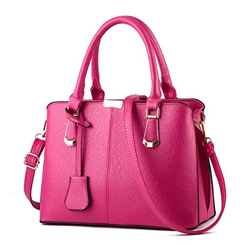 andee-womens-fashionable-classical-pure-color-leather-large-handbag-shoulder-bagspink