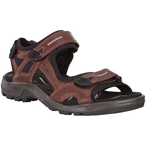ECCO Men's Yucatan outdoor offroad hiking sandal, Brandy Lux Leather, 45 EU (US Men's 11-11.5 M)