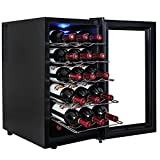 AKDY® 18 Bottle Single Zone Thermoelectric Freestanding Wine Cooler Cellar Chiller Refrigerator Fridge Quiet Operation