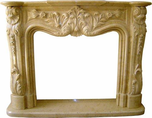 Nature Home Decor Model FPSB45 Sahara Beige Marble Fireplace Mental